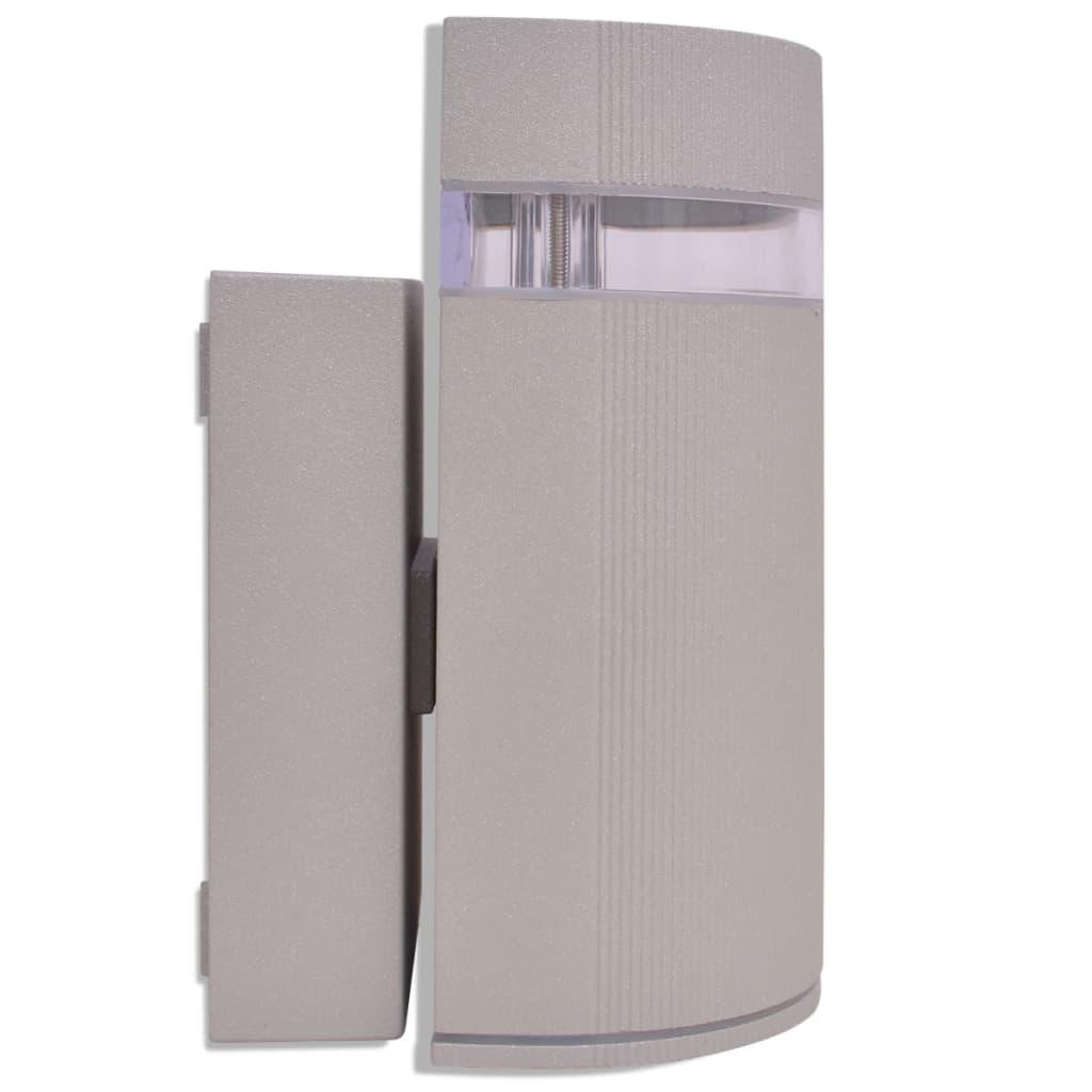 Vidaxl Outdoor Semi Cylindrical Wall Sconce Grey Aluminium