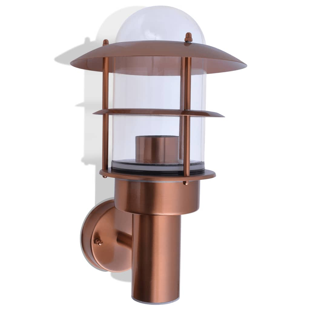 Vidaxl outdoor wall light stainless steel copper vidaxl - Applique murale cuivre ...