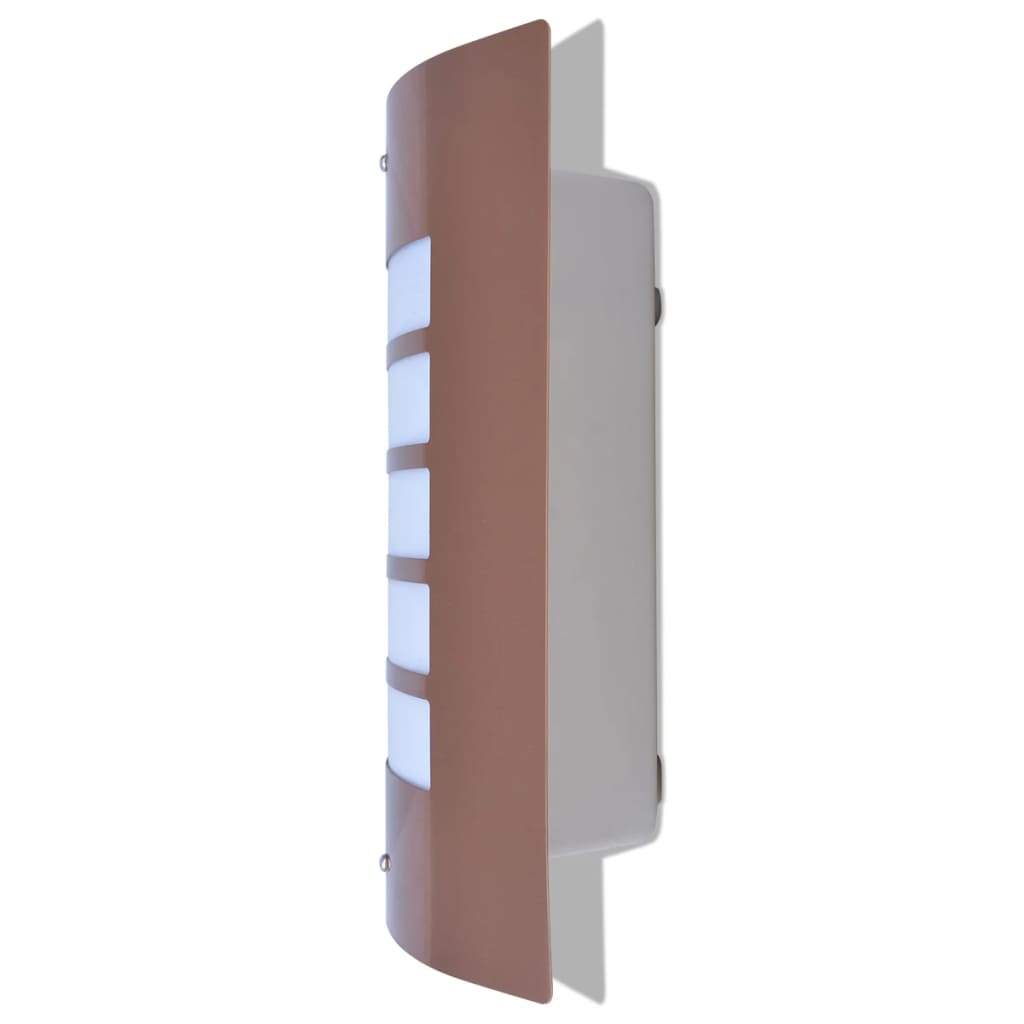 vidaXL-Lampara-de-Pared-de-Exterior-de-Acero-Inoxidable-Color-Cobre-Bombilla-60w