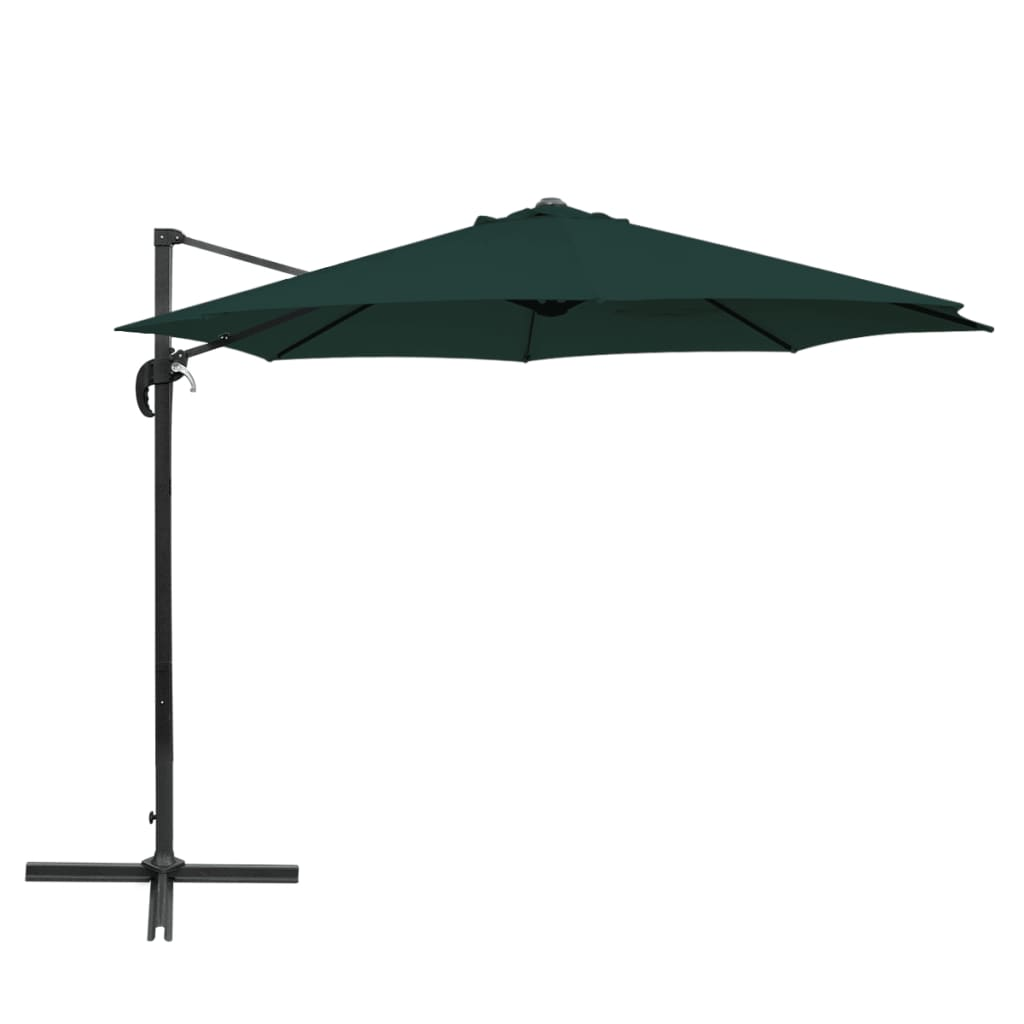 acheter vidaxl parasol en porte faux rond aluminium vert 3 m pas cher. Black Bedroom Furniture Sets. Home Design Ideas