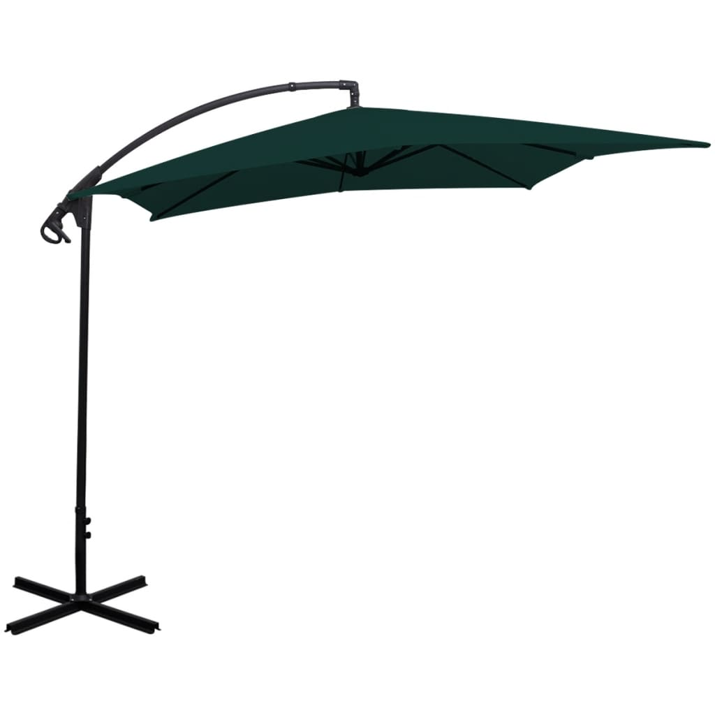vidaxl banana cantilever parasol green m. Black Bedroom Furniture Sets. Home Design Ideas