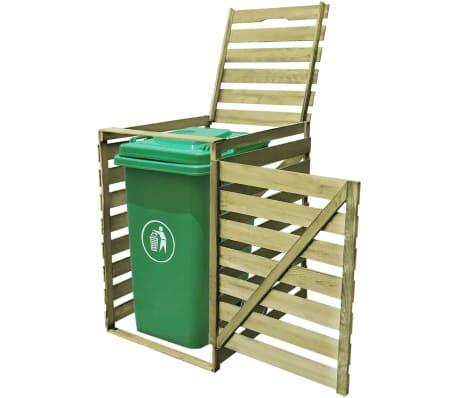Wooden Impregnated Single Wheelie Storage Rubbish Bin Shed Garden Outdoor Pat