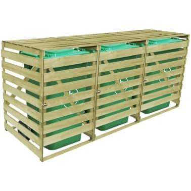 vidaxl m lltonnenbox 3 tonnen impr gniertes holz 240 l g nstig kaufen. Black Bedroom Furniture Sets. Home Design Ideas