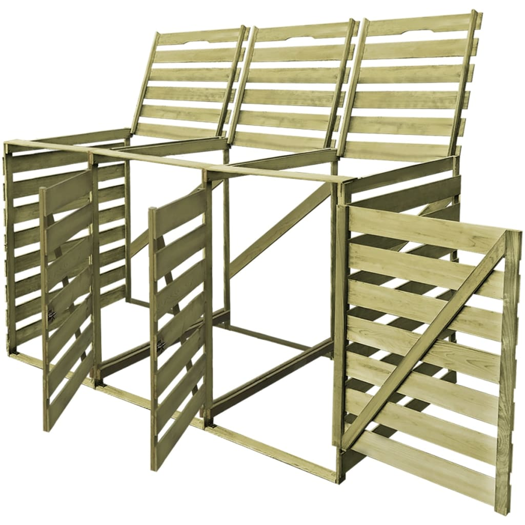 vidaxl m lltonnenbox 3 tonnen impr gniertes holz 240 l. Black Bedroom Furniture Sets. Home Design Ideas