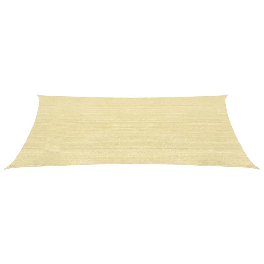 vidaxl sonnensegel hdpe rechteckig 2x4 m beige g nstig. Black Bedroom Furniture Sets. Home Design Ideas