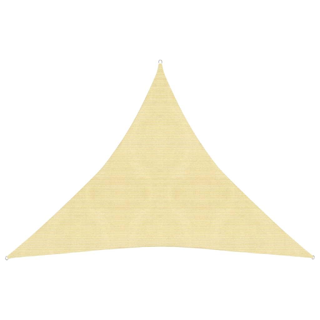 der vidaxl sonnensegel hdpe dreieckig 5x5x5 m beige online. Black Bedroom Furniture Sets. Home Design Ideas