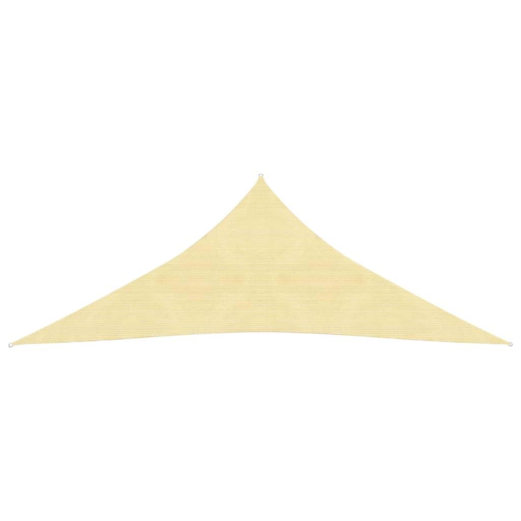 vidaXL Zonnescherm HDPE driehoekig 5x5x5 m beige