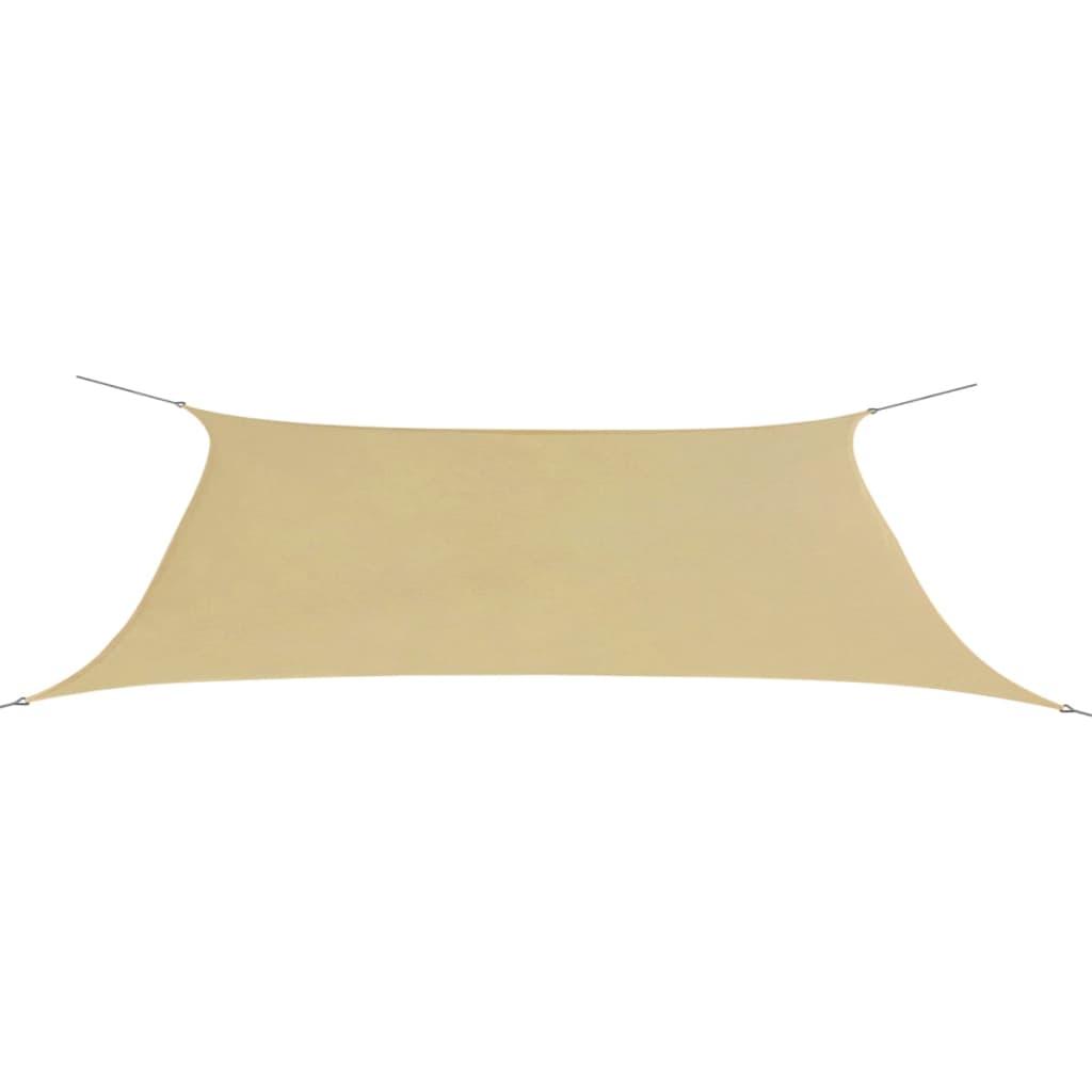 vidaxl sonnensegel oxford gewebe dreieckig 4x6 m beige g nstig kaufen. Black Bedroom Furniture Sets. Home Design Ideas