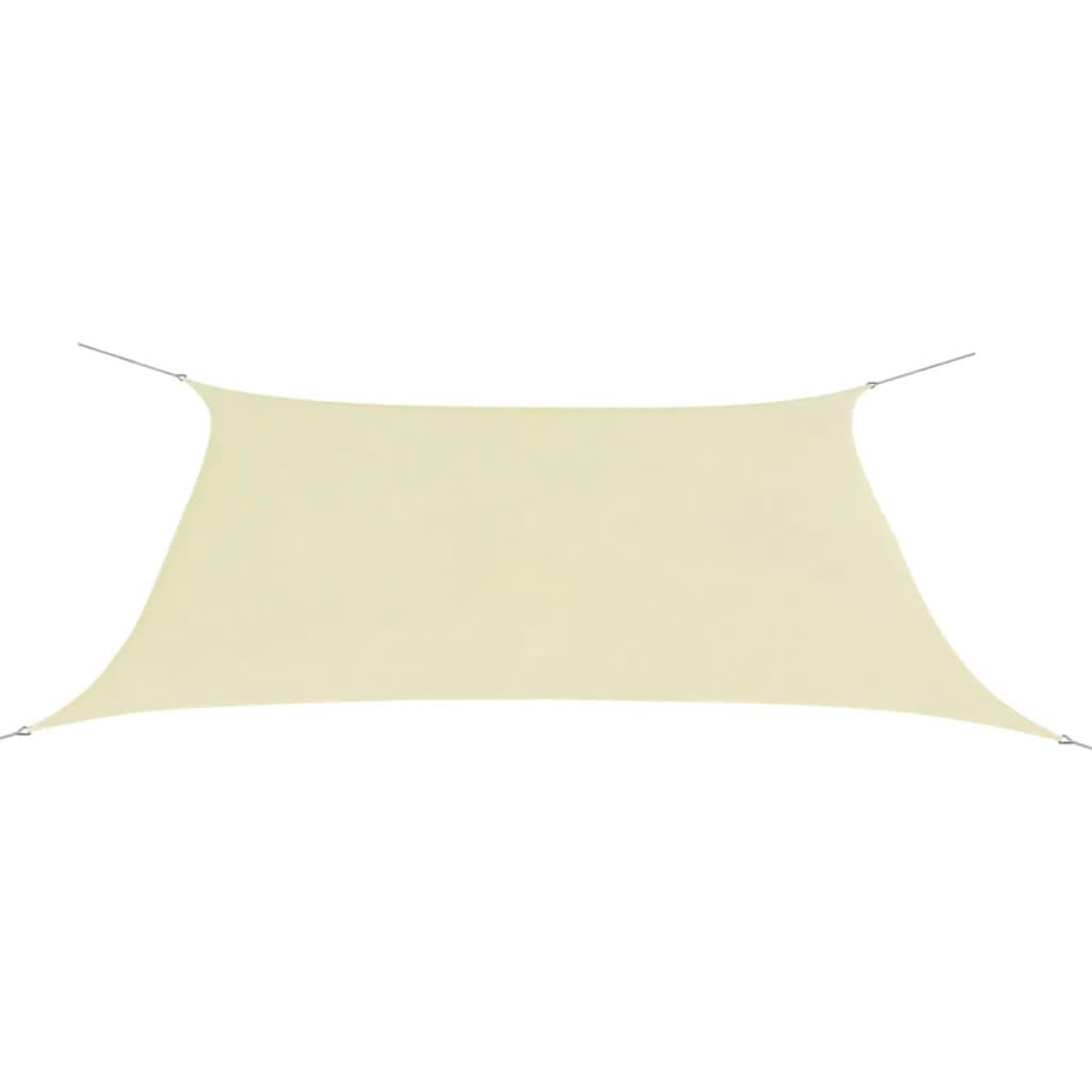 Vidaxl toldo de vela rectangular tela oxford 2x4m crema - Toldo vela rectangular ...