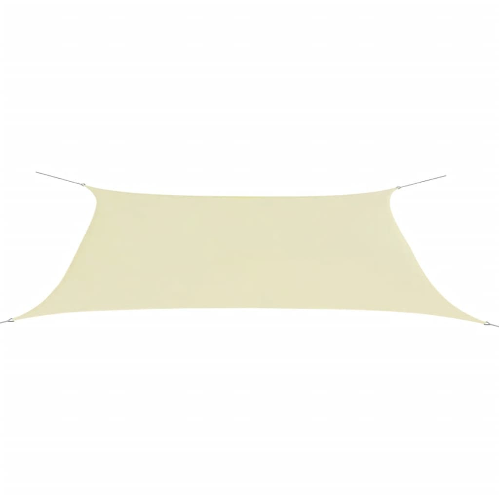 Vidaxl toldo de vela rectangular tela oxford 4x6m crema - Toldo vela rectangular ...