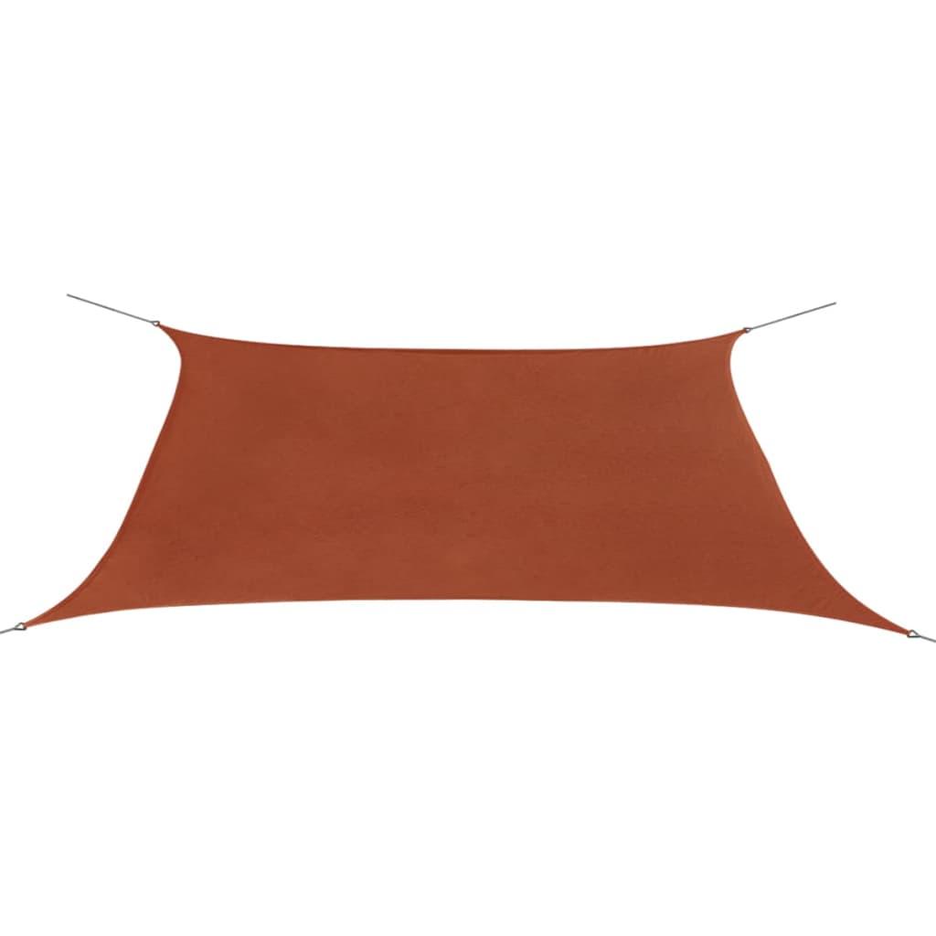 vidaxl sonnensegel oxford gewebe dreieckig 2x4 m terrakotta g nstig kaufen. Black Bedroom Furniture Sets. Home Design Ideas