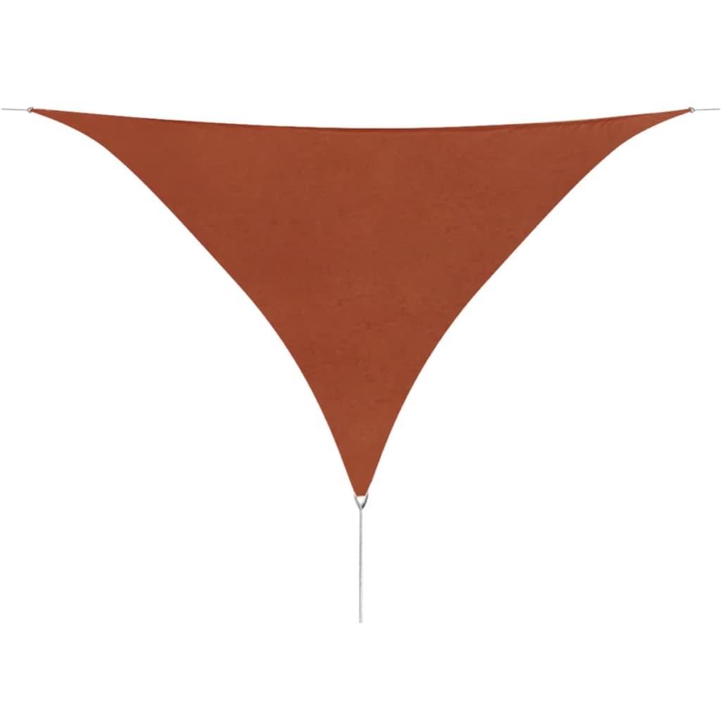 vidaXL 3,6x3,6x3,6 m háromszög alakú Oxford szövetű terrakotta napernyő