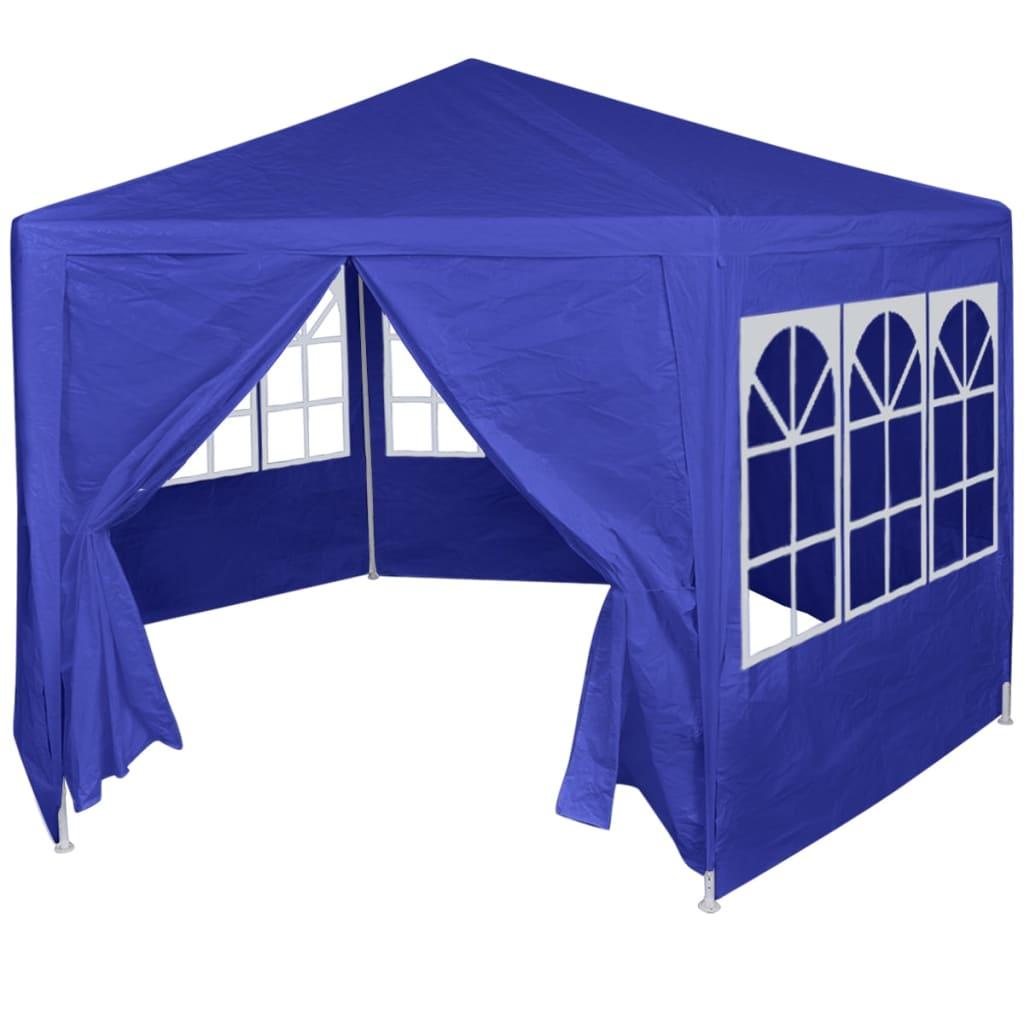 vidaXL parti sátor 6 db kék oldalfallal 2x2 m