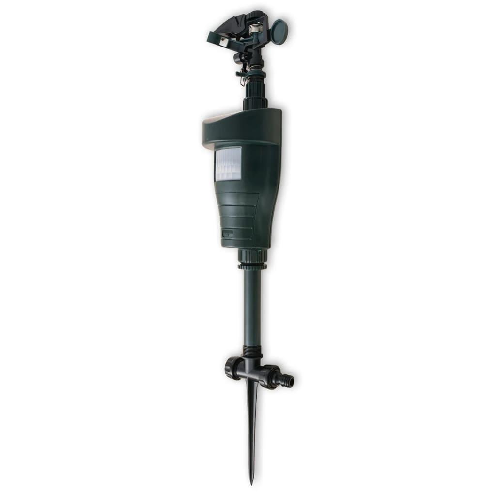 vidaXL Jet-Spray állatriasztó PIR érzékelővel sötétzöld