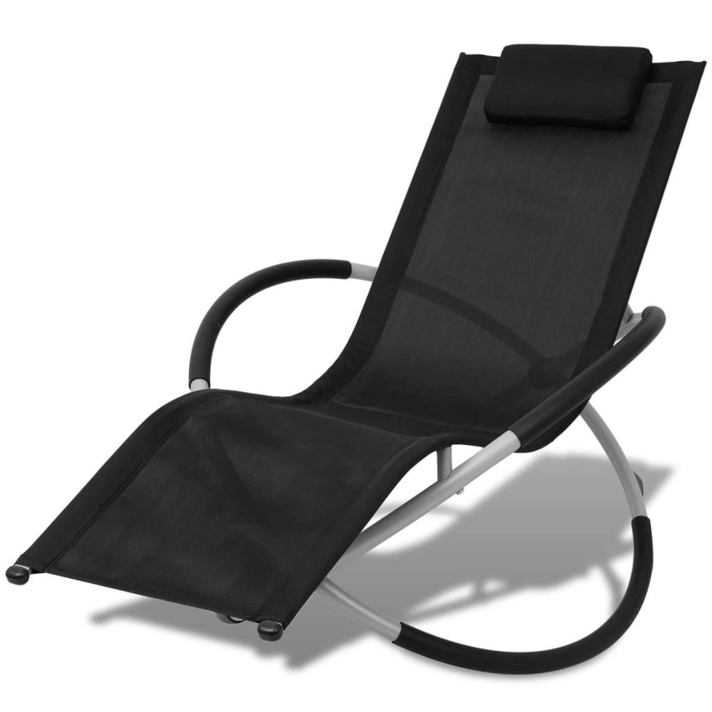 vidaxl geometrische sonnenliege stahl schwarz und grau g nstig kaufen. Black Bedroom Furniture Sets. Home Design Ideas