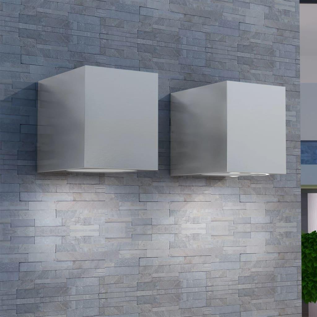 vidaXL-Outdoor-LED-Wall-Lights-2-pcs-Square-Downwards-Garden-Lighting-Decor