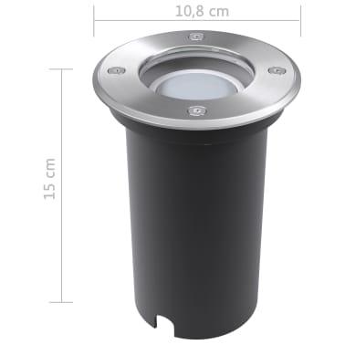 vidaXLi maapinna LED-valgustid 3 tk ümmargused[8/8]