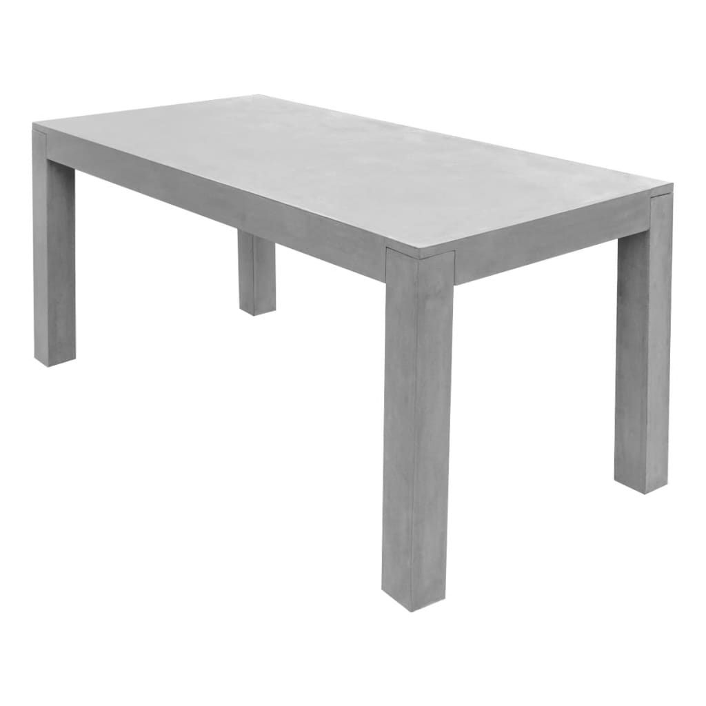 vidaxl outdoor dining table concrete rectangular. Black Bedroom Furniture Sets. Home Design Ideas