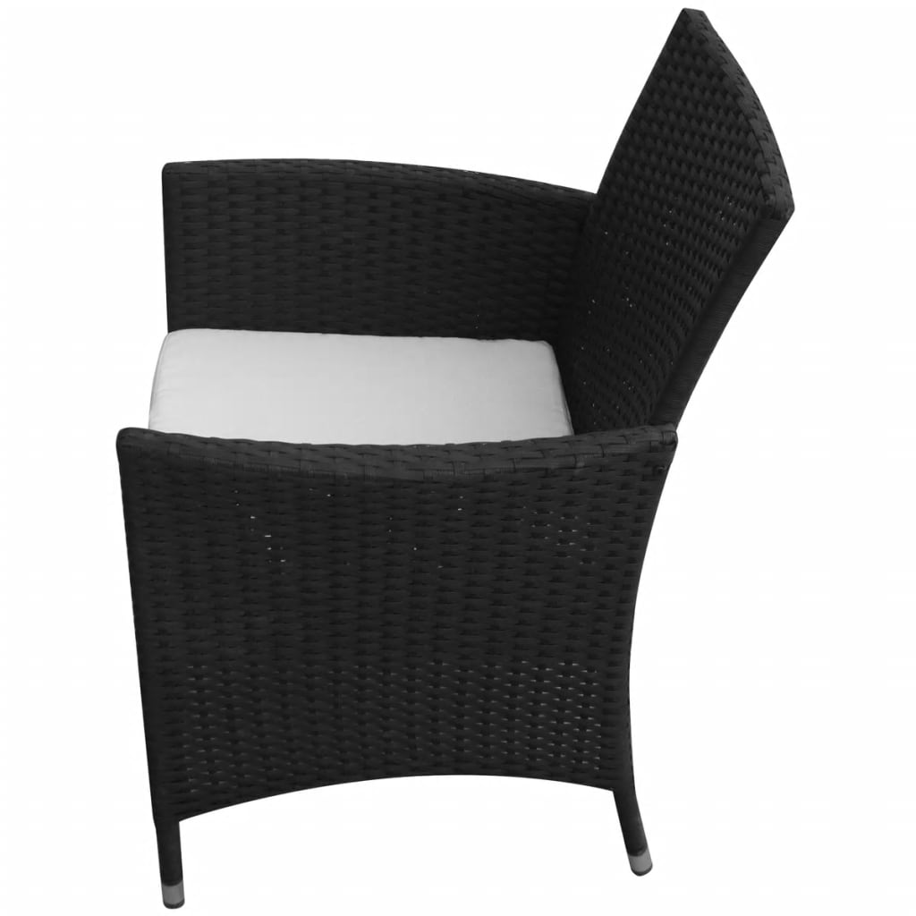vidaxl gartenst hle 2 st ck poly rattan schwarz g nstig kaufen. Black Bedroom Furniture Sets. Home Design Ideas