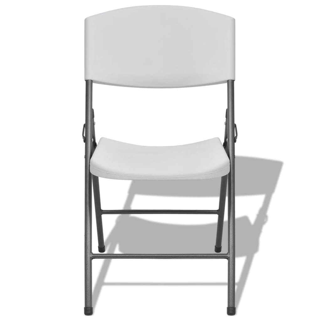 Vidaxl sillas plegables de jard n 4 unidades blancas de for Sillas plegables jardin