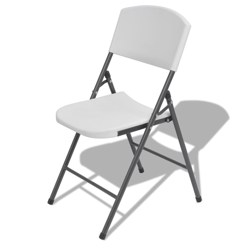 Vidaxl sillas plegables de jard n 4 unidades blancas de for Oferta sillas plegables