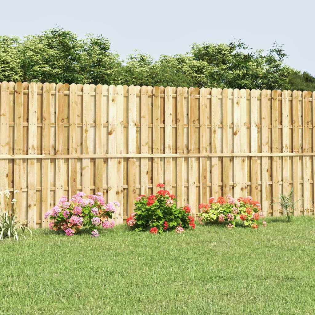 vidaXL 180x180 cm zöld fenyőfa kerítés