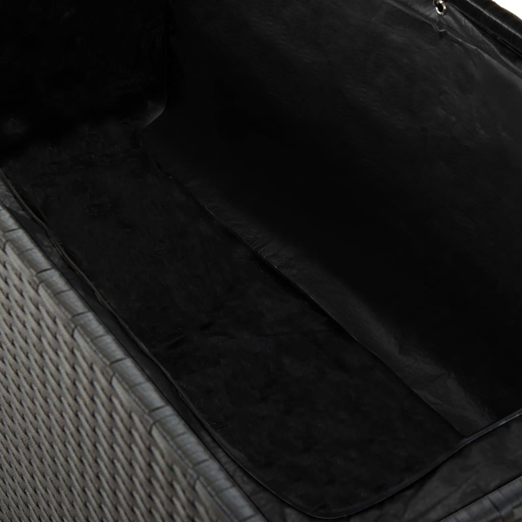 vidaxl garten aufbewahrungsbox poly rattan schwarz g nstig kaufen. Black Bedroom Furniture Sets. Home Design Ideas