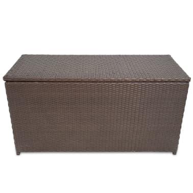 vidaxl caisse de stockage de jardin rotin synth tique marron. Black Bedroom Furniture Sets. Home Design Ideas