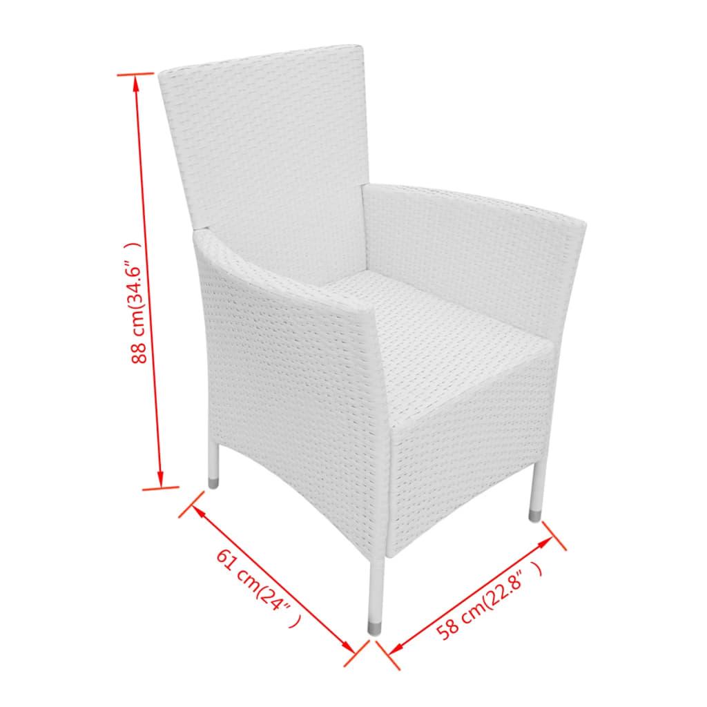 vidaxl gartenm bel set 17 tlg cremewei polyrattan. Black Bedroom Furniture Sets. Home Design Ideas