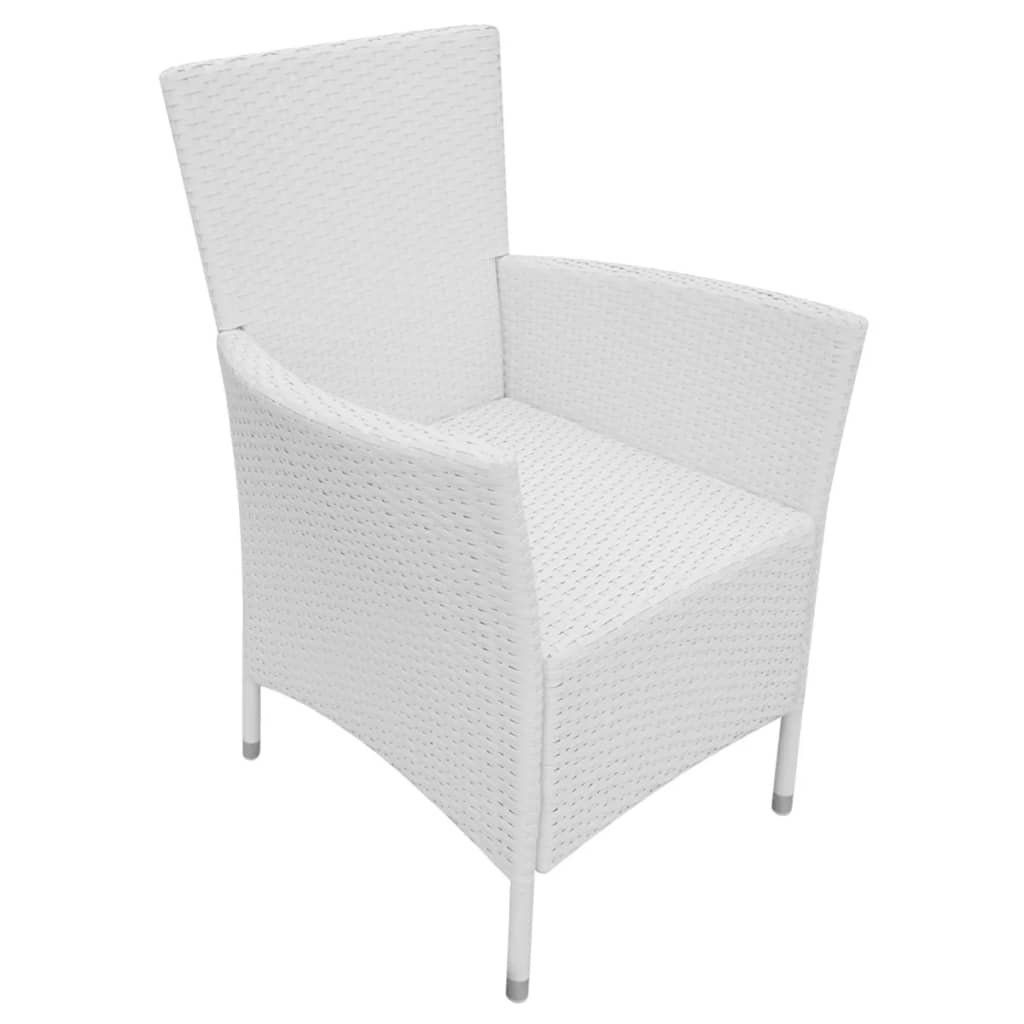 acheter vidaxl mobilier de jardin 13 pi ces rotin synth tique blanc cr me pas cher. Black Bedroom Furniture Sets. Home Design Ideas