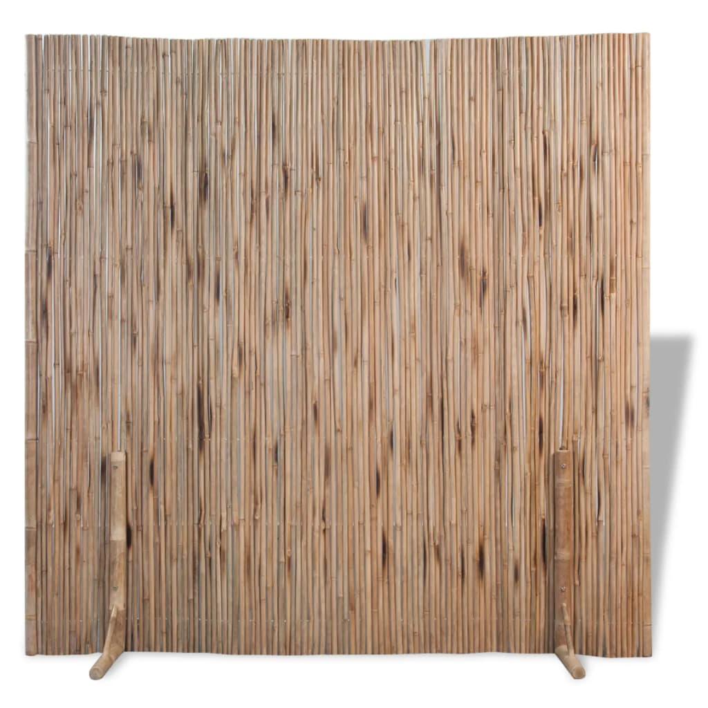 vidaXL Bambusz szobaelválasztó/kerítéspanel 180x180 cm