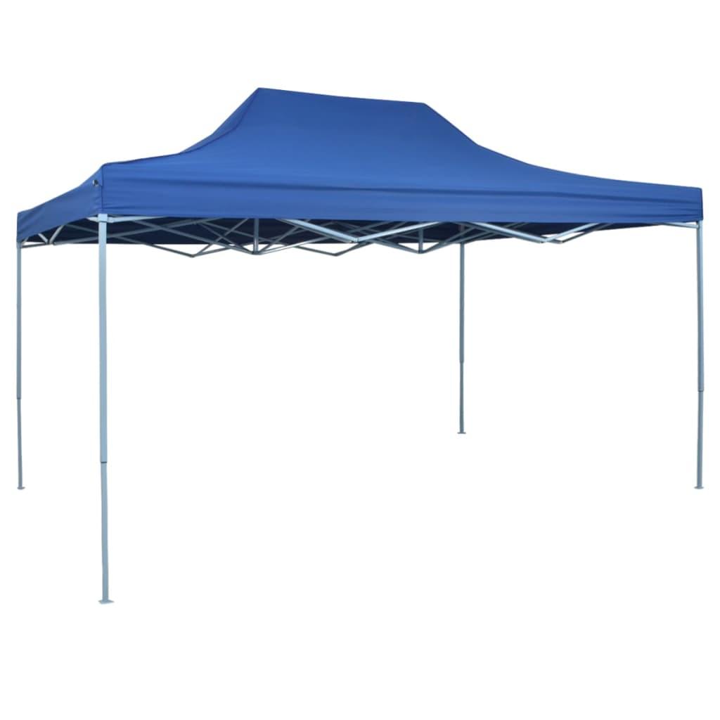 vidaXL felállítható pavilon, 3 x 4,5 m, kék