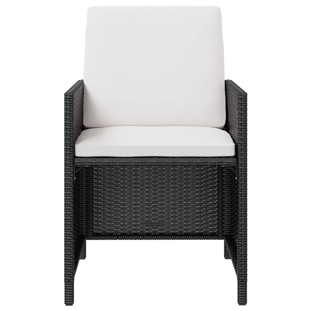 Vidaxl mobilier d 39 ext rieur 11 pcs noir r sine tress e for Mobilier exterieur resine