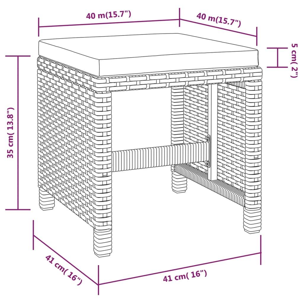 vidaxl mobilier d 39 ext rieur 11 pcs noir r sine tress e. Black Bedroom Furniture Sets. Home Design Ideas