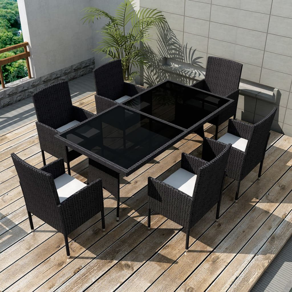 vidaxl poly rattan essgruppe 13 tlg gartenm bel set sitzgruppe gartengarnitur ebay. Black Bedroom Furniture Sets. Home Design Ideas