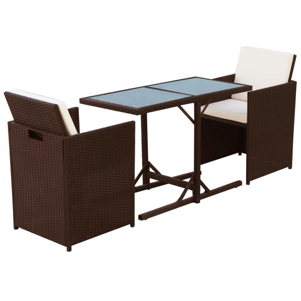 vidaxl poly rattan gartenm bel set 7 tlg braun sitzgarnituren gartengarnitur ebay. Black Bedroom Furniture Sets. Home Design Ideas
