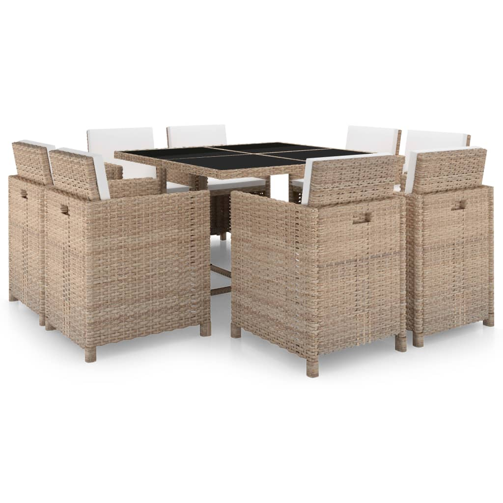 vidaxl 25 piece outdoor dining set grey poly rattan. Black Bedroom Furniture Sets. Home Design Ideas