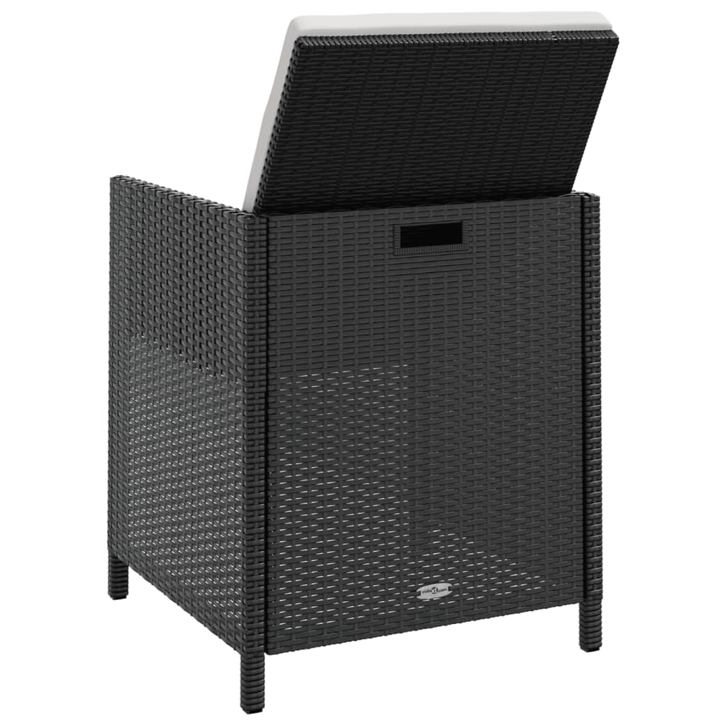 vidaxl gartenm bel 31tlg poly rattan schwarz akazie sitzgruppe gartengarnitur ebay. Black Bedroom Furniture Sets. Home Design Ideas
