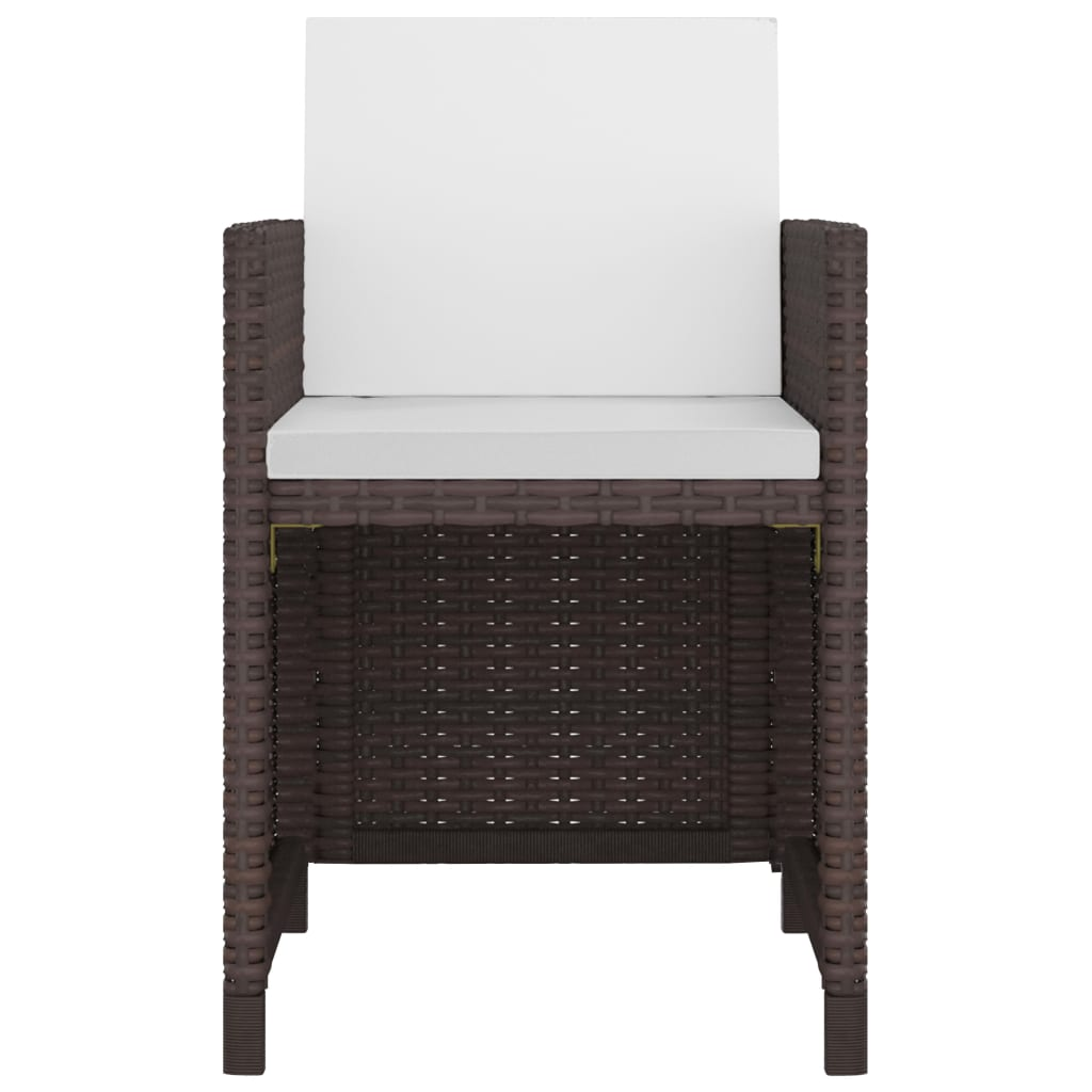 vidaxl jeu de salle manger d 39 ext rieur jardin 37 pcs rotin synth tique marron ebay. Black Bedroom Furniture Sets. Home Design Ideas