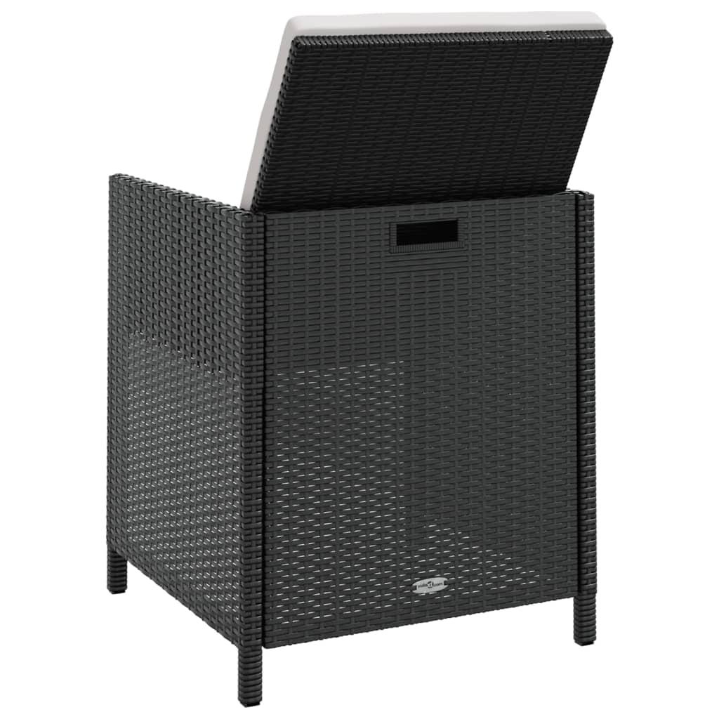 vidaxl 37 teilige garten essgruppe schwarz poly rattan. Black Bedroom Furniture Sets. Home Design Ideas