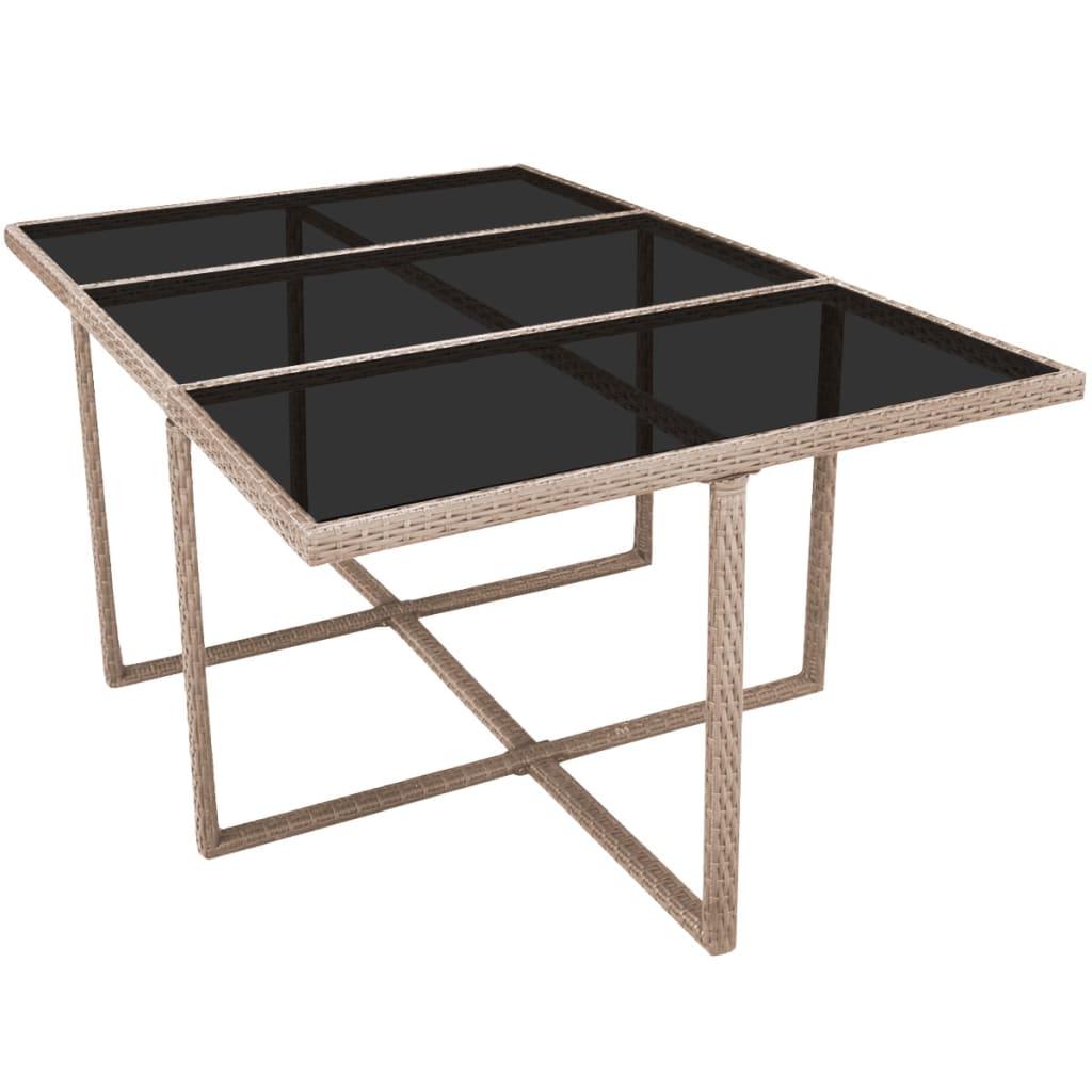 acheter vidaxl mobilier de jardin 27 pi ces r sine tress e gris pas cher. Black Bedroom Furniture Sets. Home Design Ideas