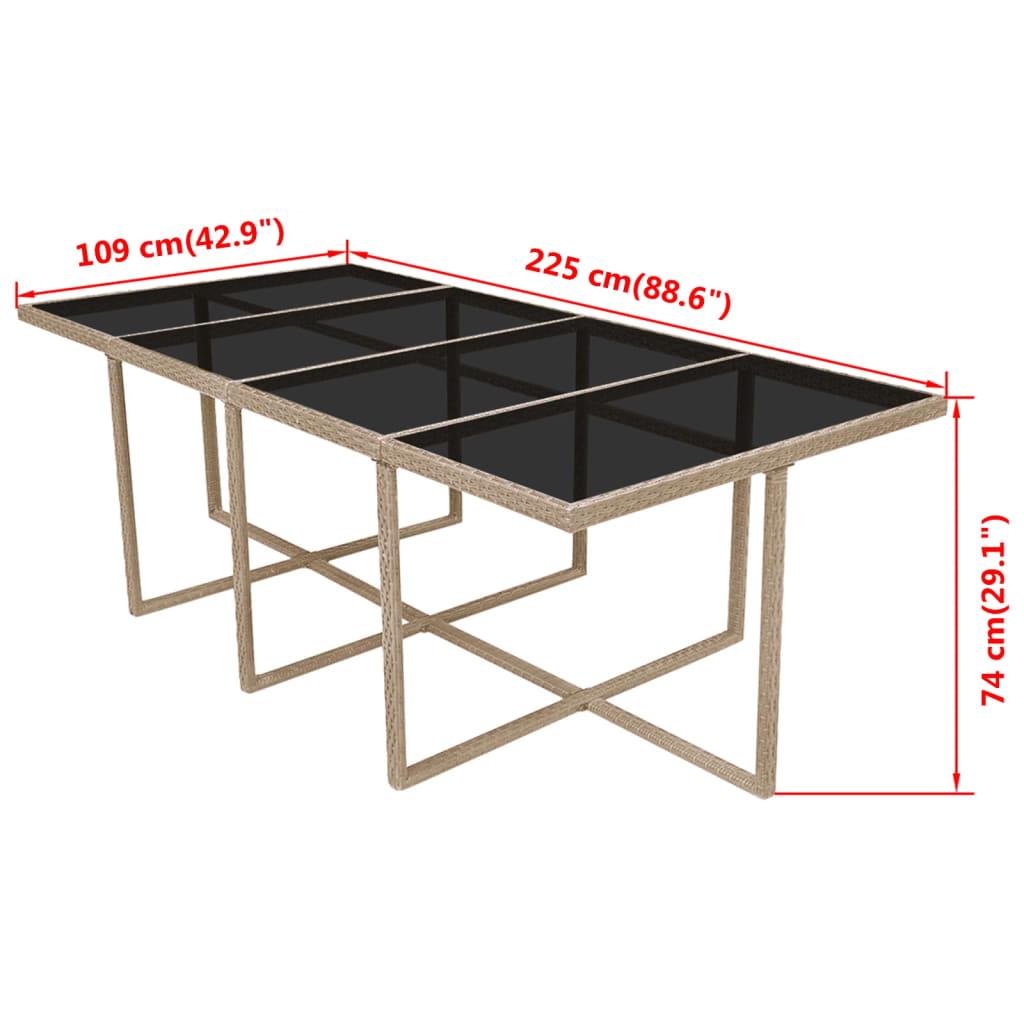 Acheter vidaxl mobilier de jardin 33 pi ces r sine tress e for Mobilier exterieur resine tressee