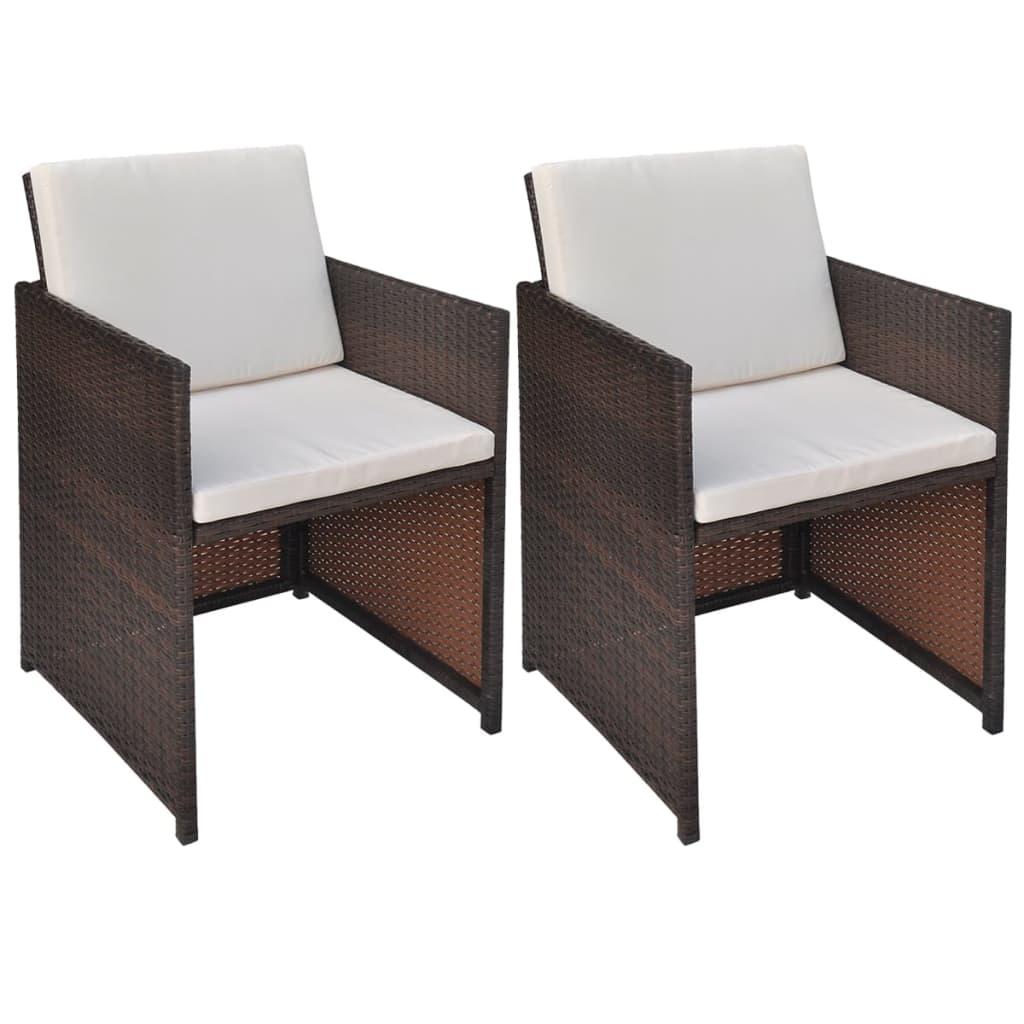Acheter vidaxl chaise de salle manger 2 pcs 52x56x85cm for Chaise tressee salle manger