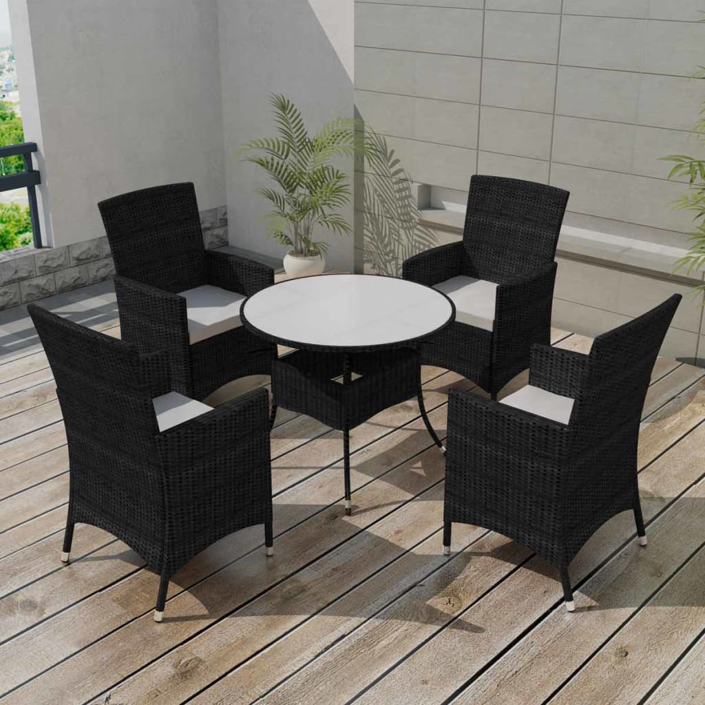 vidaxl 9tlg sitzgruppe essgruppe gartenm bel garnitur poly rattan braun schwarz ebay. Black Bedroom Furniture Sets. Home Design Ideas