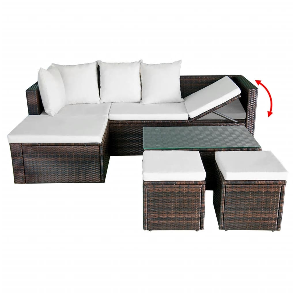 acheter vidaxl ensemble de canap d 39 angle pour jardin 12. Black Bedroom Furniture Sets. Home Design Ideas