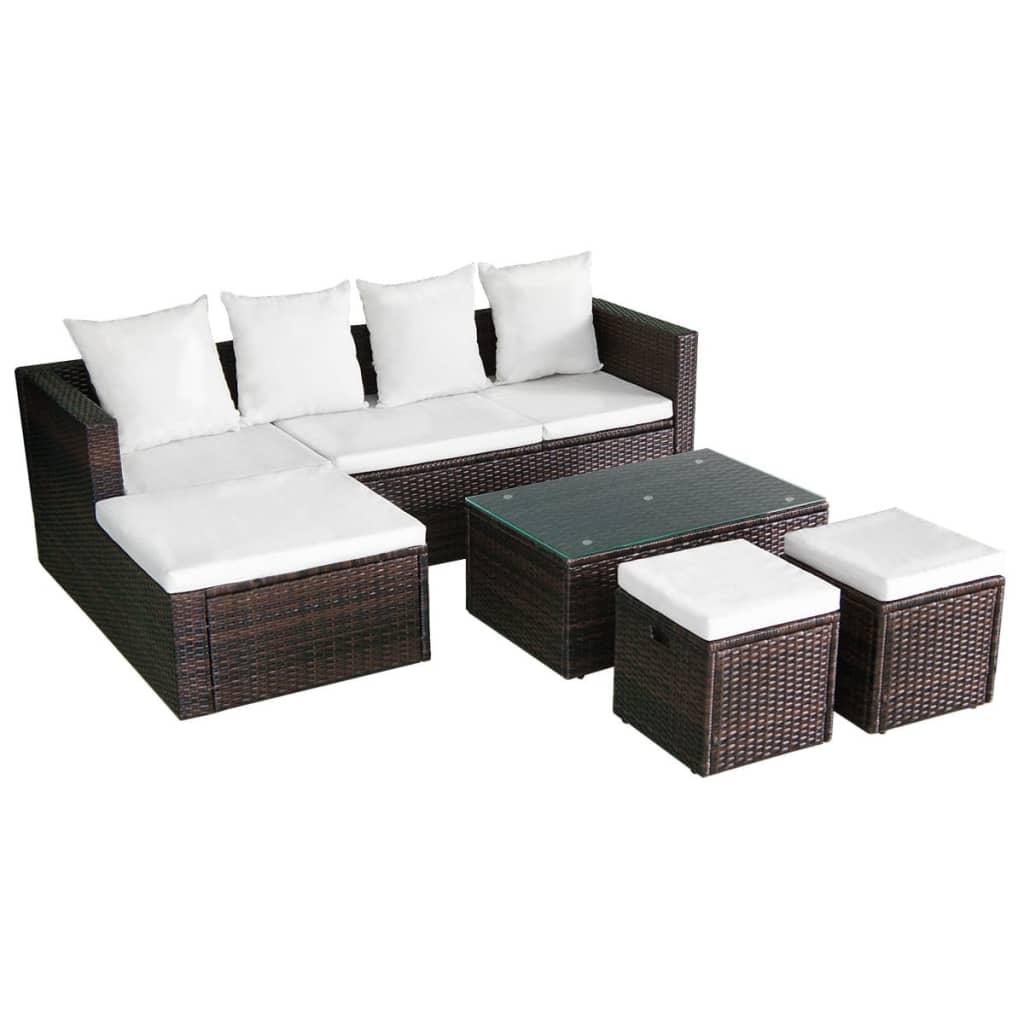 Acheter vidaxl ensemble de canap d 39 angle pour jardin 12 - Canape d angle jardin ...