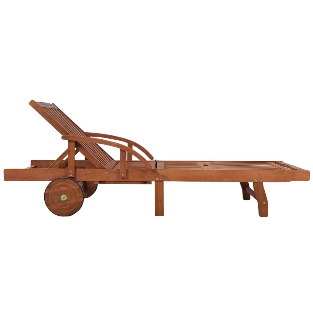 Acheter vidaxl chaise longue avec coussin bois d 39 acacia for Acheter chaise longue