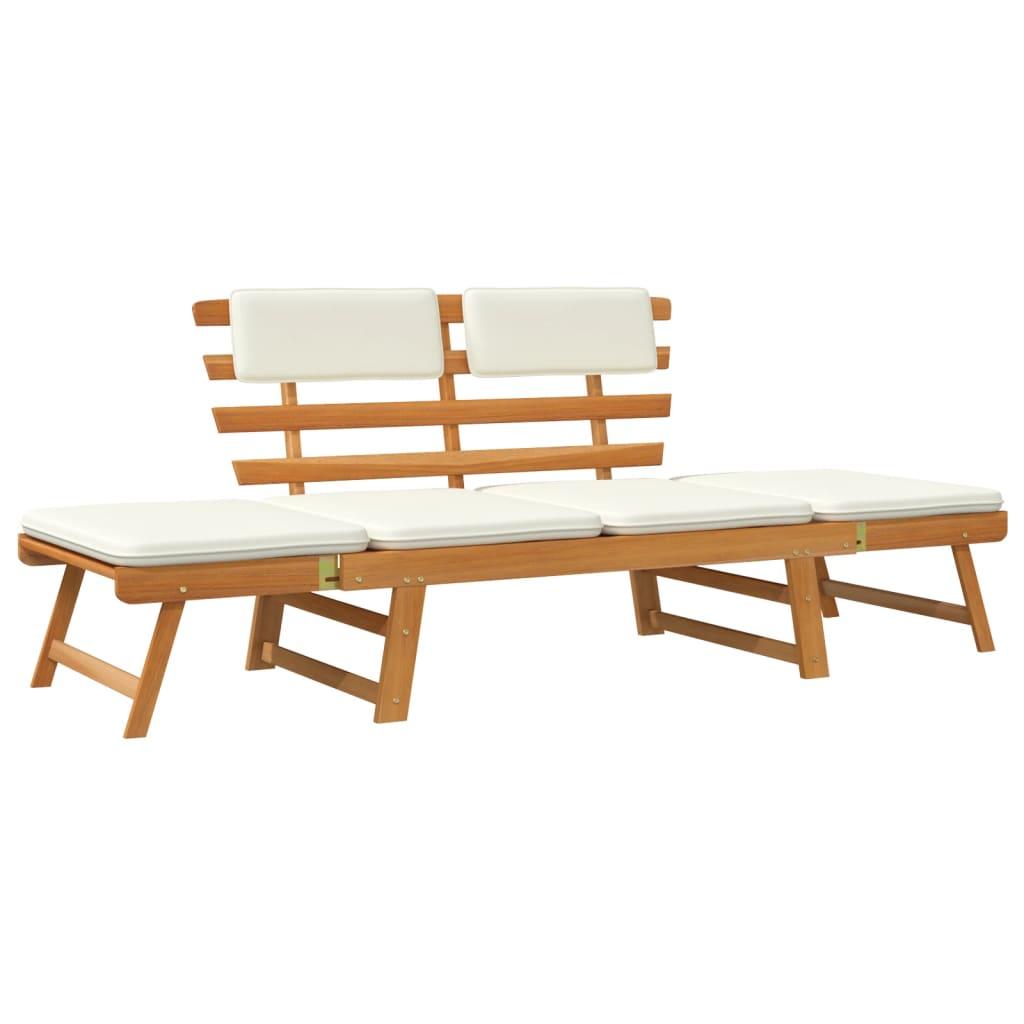 acheter vidaxl lit de bronzage banc de jardin bois d 39 acacia massif 190 x 66 x 75 cm pas cher. Black Bedroom Furniture Sets. Home Design Ideas