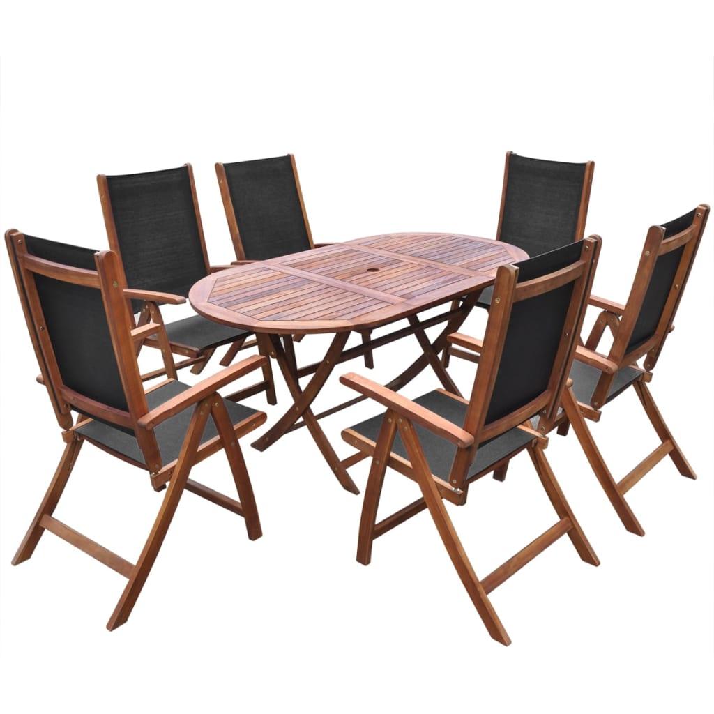 Acheter vidaxl ensemble de mobilier de jardin 9 pi ces for Mobilier de jardin en bois pas cher