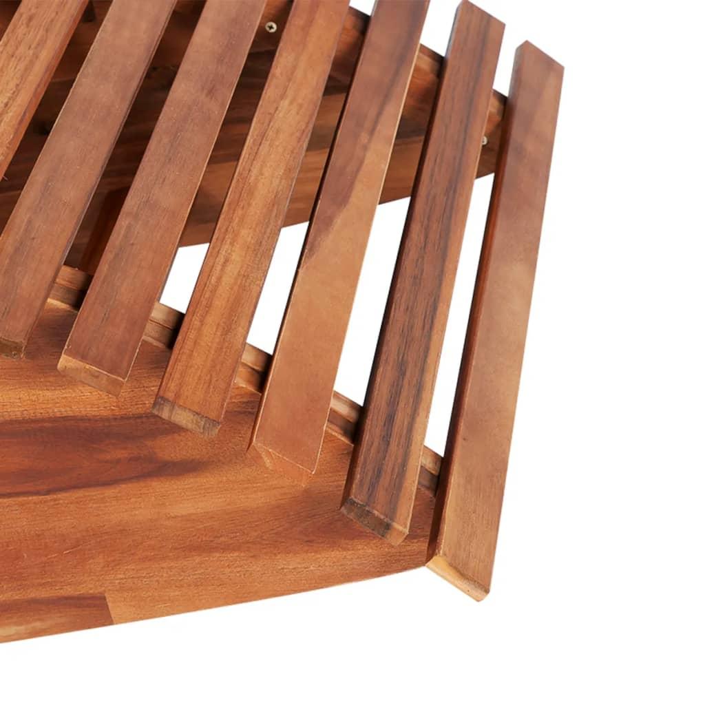 Acheter vidaxl chaise longue basculante bois d 39 acacia pas for Chaise bois solde